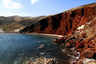 santorini anna pension red beach